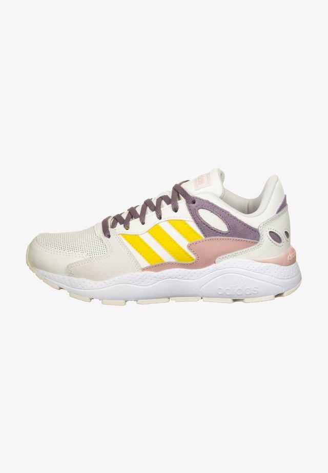 ADIDAS PERFORMANCE CRAZYCHAOS SNEAKER DAMEN - Neutral running shoes - cloud white/ eqt yellow/legacy purple