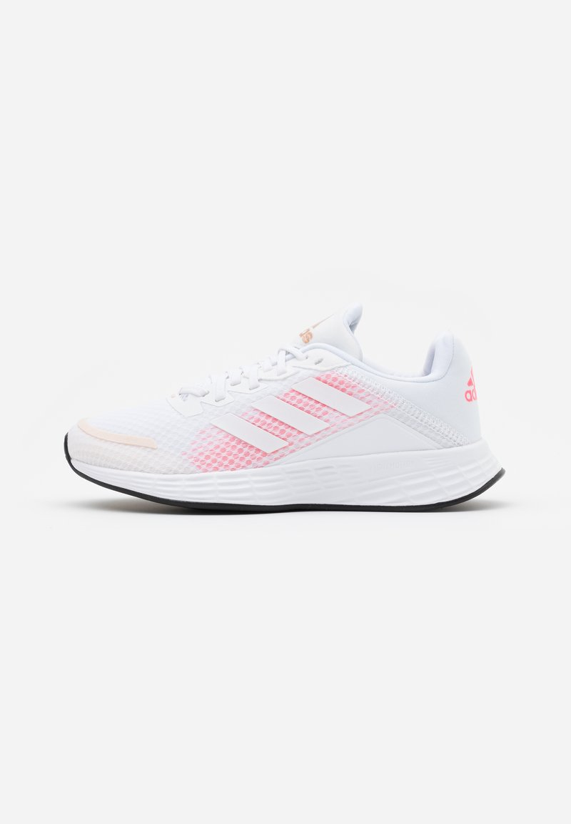 adidas Performance - DURAMO CLASSIC LIGHTMOTION RUNNING SHOES - Obuwie do biegania treningowe - footwear white/signal pink