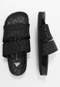 adidas by Stella McCartney - STELLA-LETTE - Sandały kąpielowe - core black/utility black/footwear white - 1