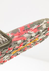 adidas Performance - TERREX ADILETTE SLIDES - Pool slides - legend green/shock red/sesame - 6