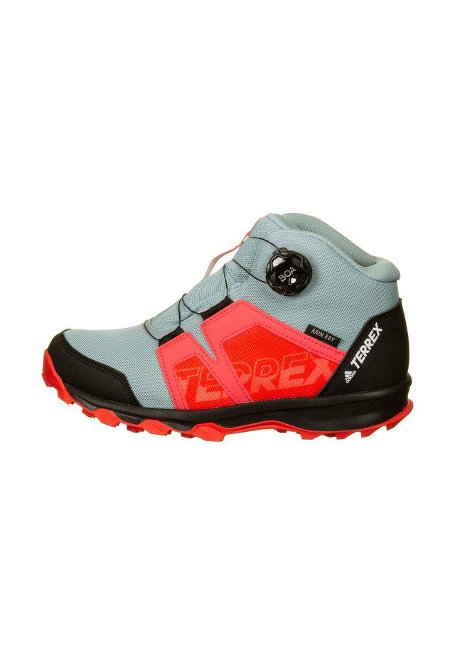 TERREX BOA MID GTX OUTDOORSCHUH KINDER - Sneaker low - ash grey / footwear white / show red