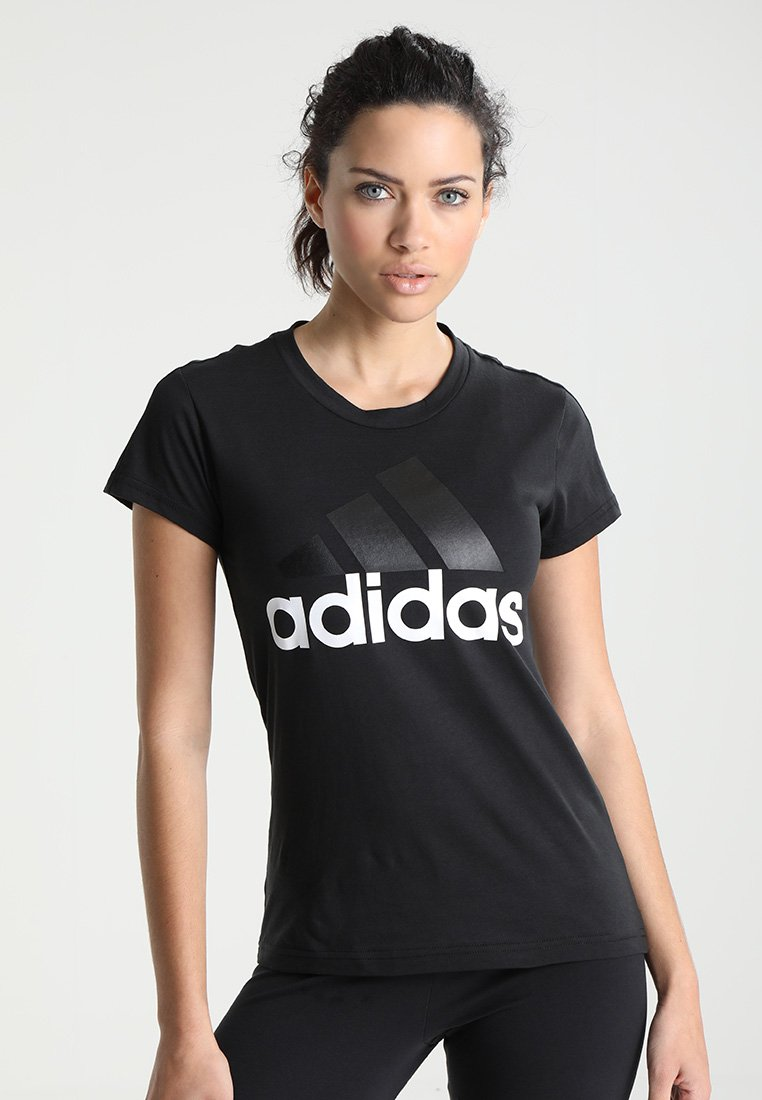 adidas Performance - T-shirt imprimé - black/white