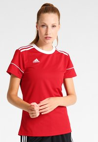 adidas Performance - CLIMALITE PRIMEGREEN JERSEY SHORT SLEEVE - Print T-shirt - power red/white - 0