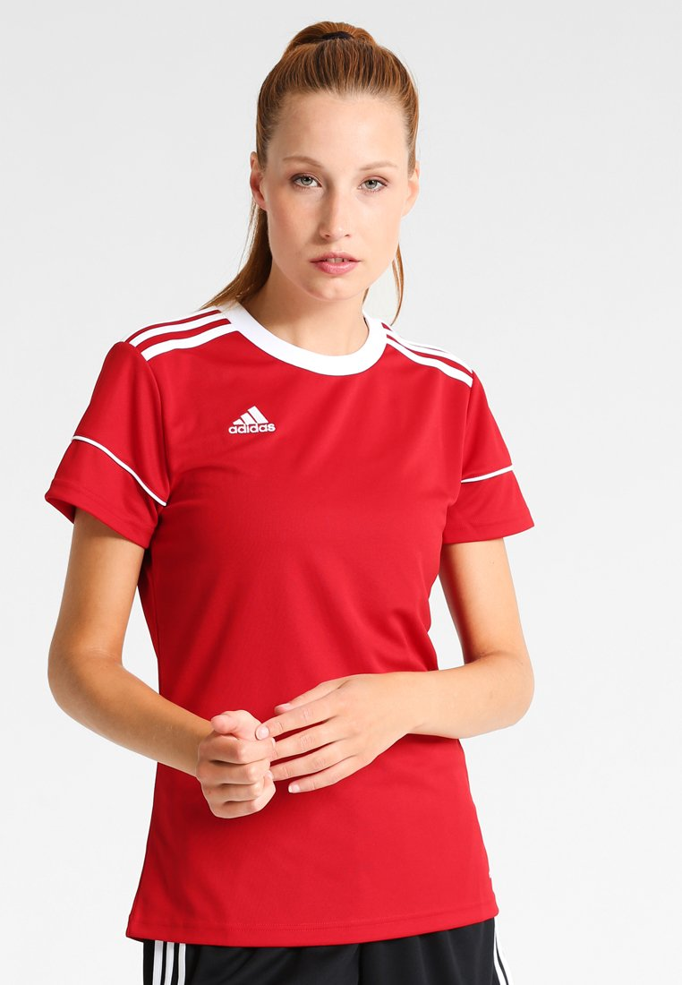 adidas Performance - SQUADRA 17 - Print T-shirt - power red/white