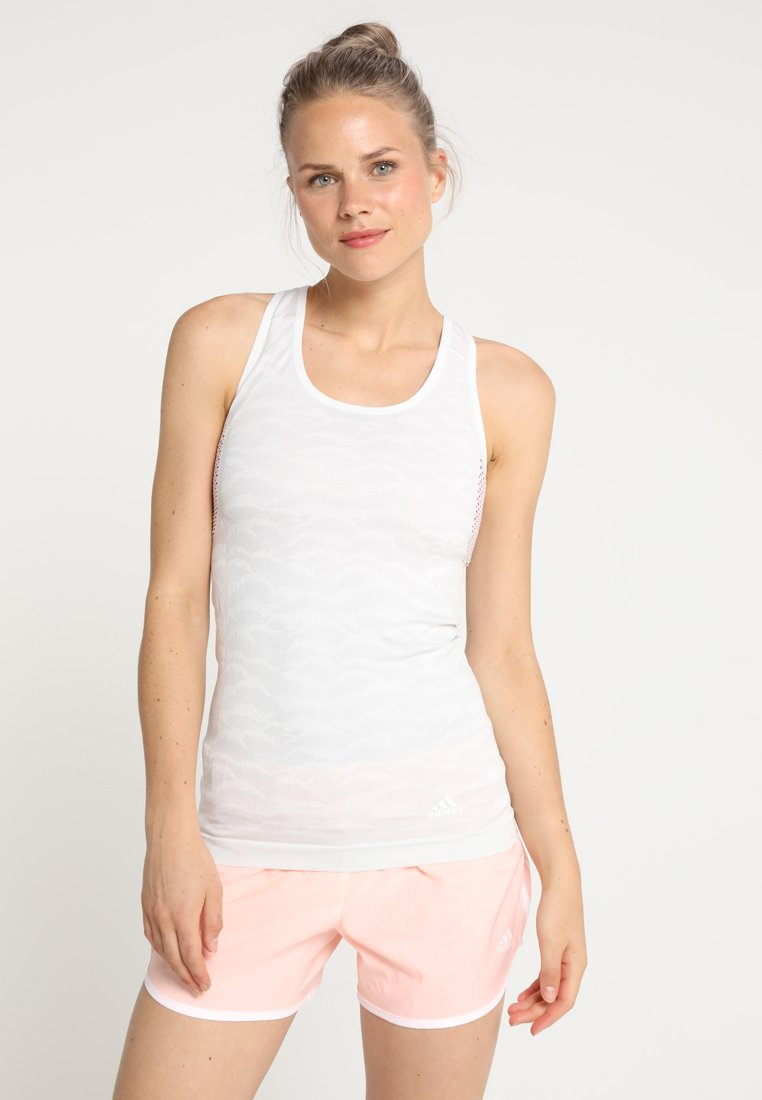 adidas Performance - ULTRA TANK - Top - cloud white/grey one
