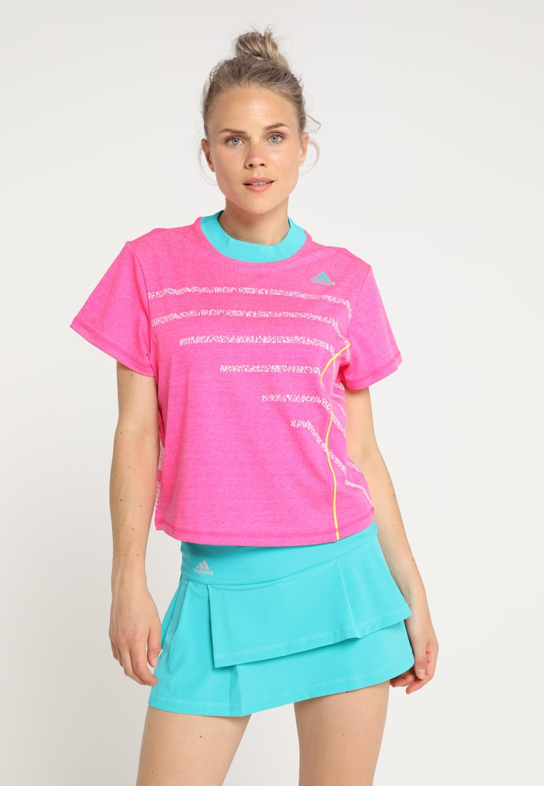 adidas Performance - SEASONAL TEE - Print T-shirt - shock pink