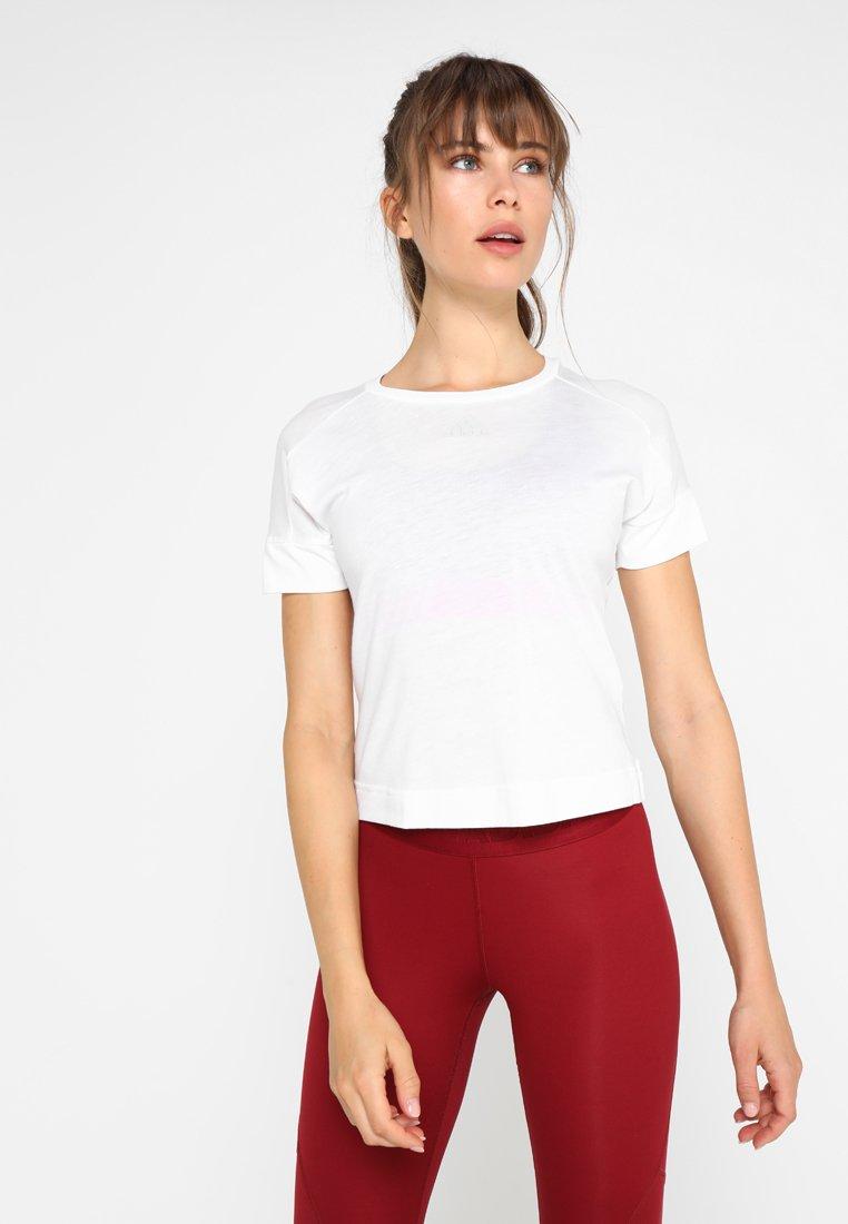 adidas Performance - ID SLIM - T-Shirt print - white