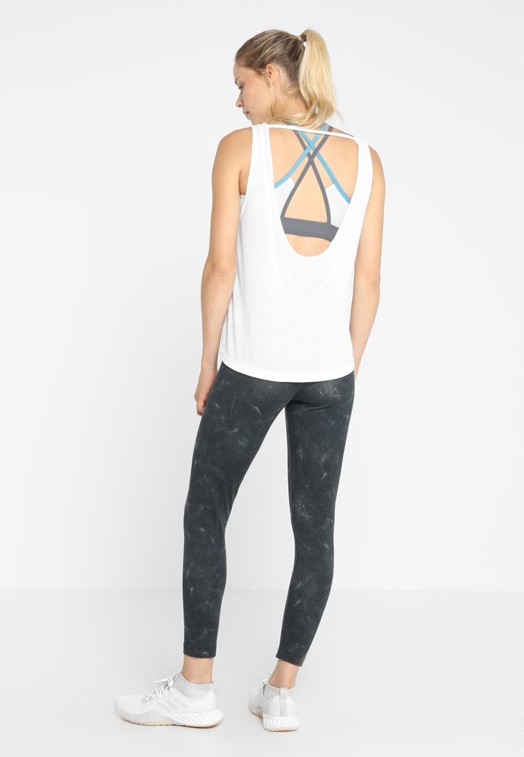 adidas Performance LOW BACK TANK - T-shirt de sport white