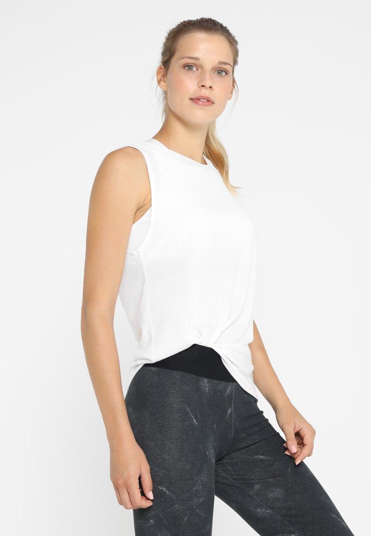 adidas Performance - LOW BACK TANK - Sportshirt - white