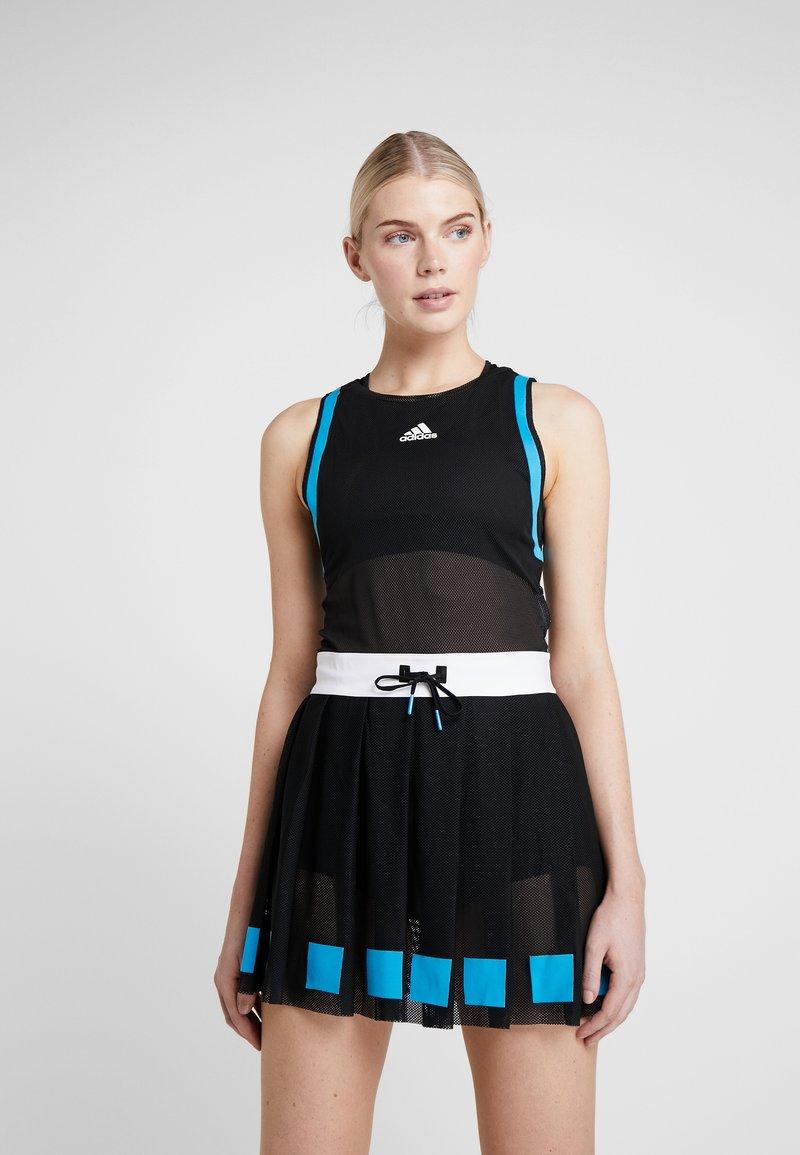 adidas Performance - ESCOUADE DRESS - Sportovní šaty - black/white