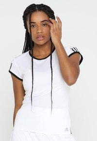 adidas Performance - CLUB TEE - Print T-shirt - white - 0