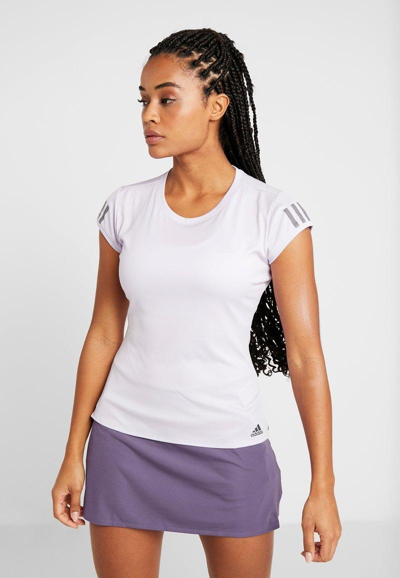 adidas Performance - CLUB TEE - Camiseta estampada - purple
