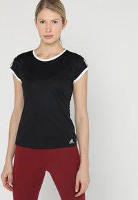 adidas Performance - CLUB TEE - Print T-shirt - black - 0