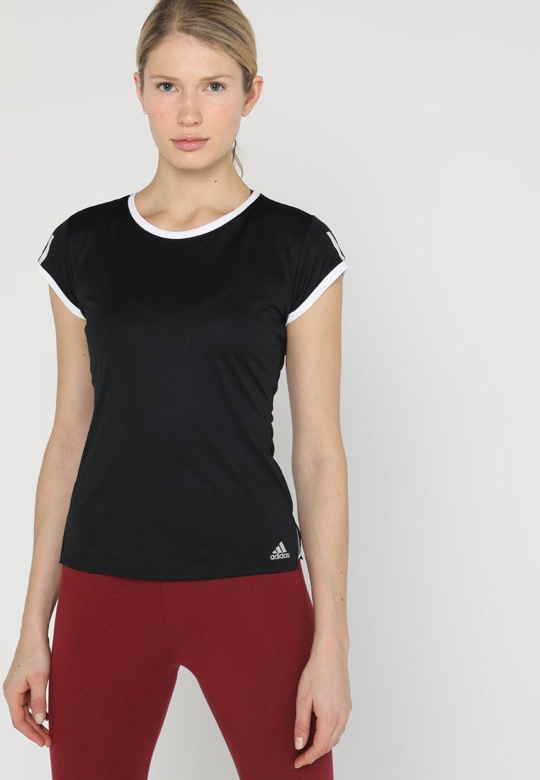 adidas Performance - CLUB TEE - Print T-shirt - black