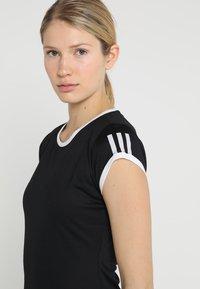 adidas Performance - CLUB TEE - Print T-shirt - black - 4
