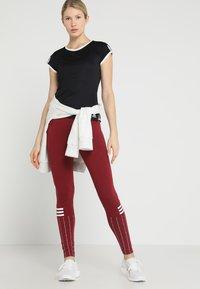 adidas Performance - CLUB TEE - Print T-shirt - black - 1
