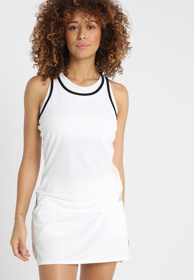 adidas Performance - CLUB TANK - T-shirt de sport - white