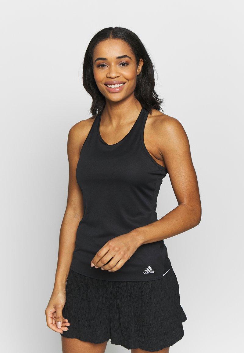 adidas Performance - CLUB TANK - Sports shirt - black/silver/white