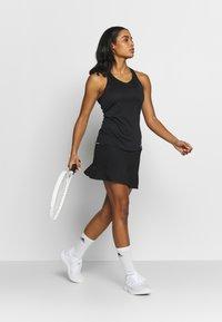 adidas Performance - CLUB TANK - Sports shirt - black/silver/white - 1