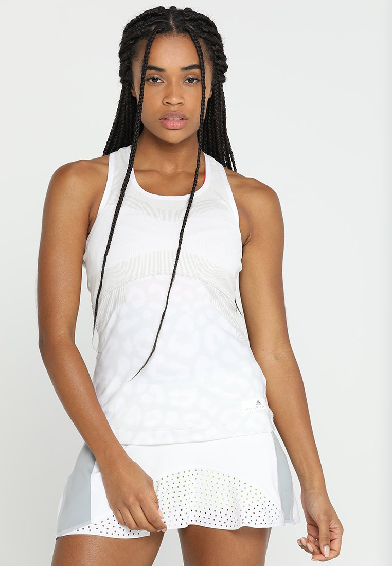 adidas Performance - TANK - Toppe - white