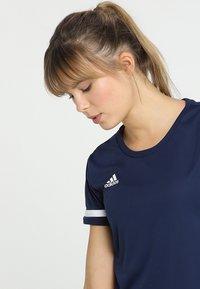 adidas Performance - TEAM 19 - T-shirt imprimé - navy blue/white - 3