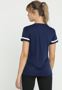 adidas Performance - TEAM 19 - T-shirt imprimé - navy blue/white - 2