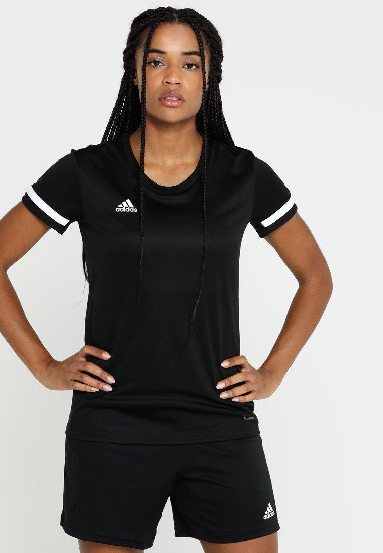 adidas Performance - TEAM 19 - T-shirts print - black/white