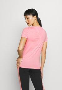 adidas Performance - ESSENTIALS SPORTS SLIM SHORT SLEEVE TEE - T-shirts print - pink/white - 2