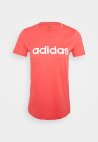 adidas Performance - ESSENTIALS SPORTS SLIM SHORT SLEEVE TEE - T-shirt print - pink/white - 4