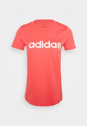 ESSENTIALS SPORTS SLIM SHORT SLEEVE TEE - T-shirt print - pink/white