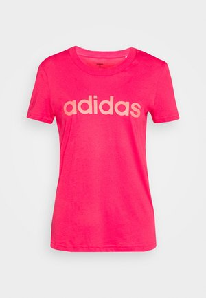 ESSENTIALS SPORTS SLIM SHORT SLEEVE TEE - Print T-shirt - powerpink/signalpink