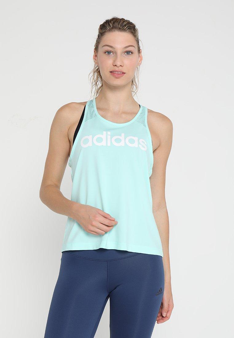 adidas Performance - LOGO TANK - Sportshirt - clear mint