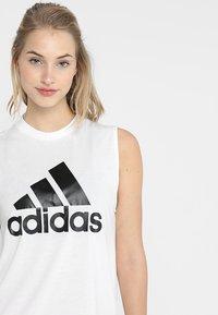 adidas Performance - MUST HAVES SPORT REGULAR FIT TANK TOP - Sportshirt - white/black - 3
