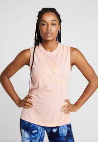 adidas Performance - MUST HAVES SPORT REGULAR FIT TANK TOP - T-shirt sportiva - pink - 0