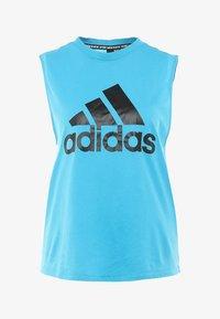 adidas Performance - MUST HAVES SPORT REGULAR FIT TANK TOP - Sportshirt - blue - 3