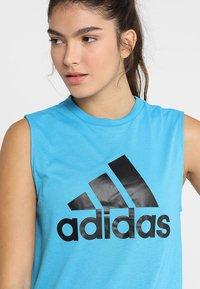 adidas Performance - MUST HAVES SPORT REGULAR FIT TANK TOP - Sportshirt - blue - 4