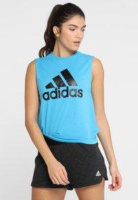 adidas Performance - MUST HAVES SPORT REGULAR FIT TANK TOP - Sportshirt - blue - 0