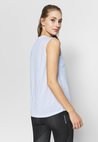 adidas Performance - MUST HAVES SPORT REGULAR FIT TANK TOP - Camiseta de deporte - sky tint/white - 2