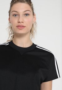 adidas Performance - ATTEETUDE TEE - T-shirts - black/white - 3
