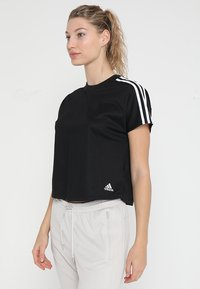 adidas Performance - ATTEETUDE TEE - T-shirts - black/white - 0