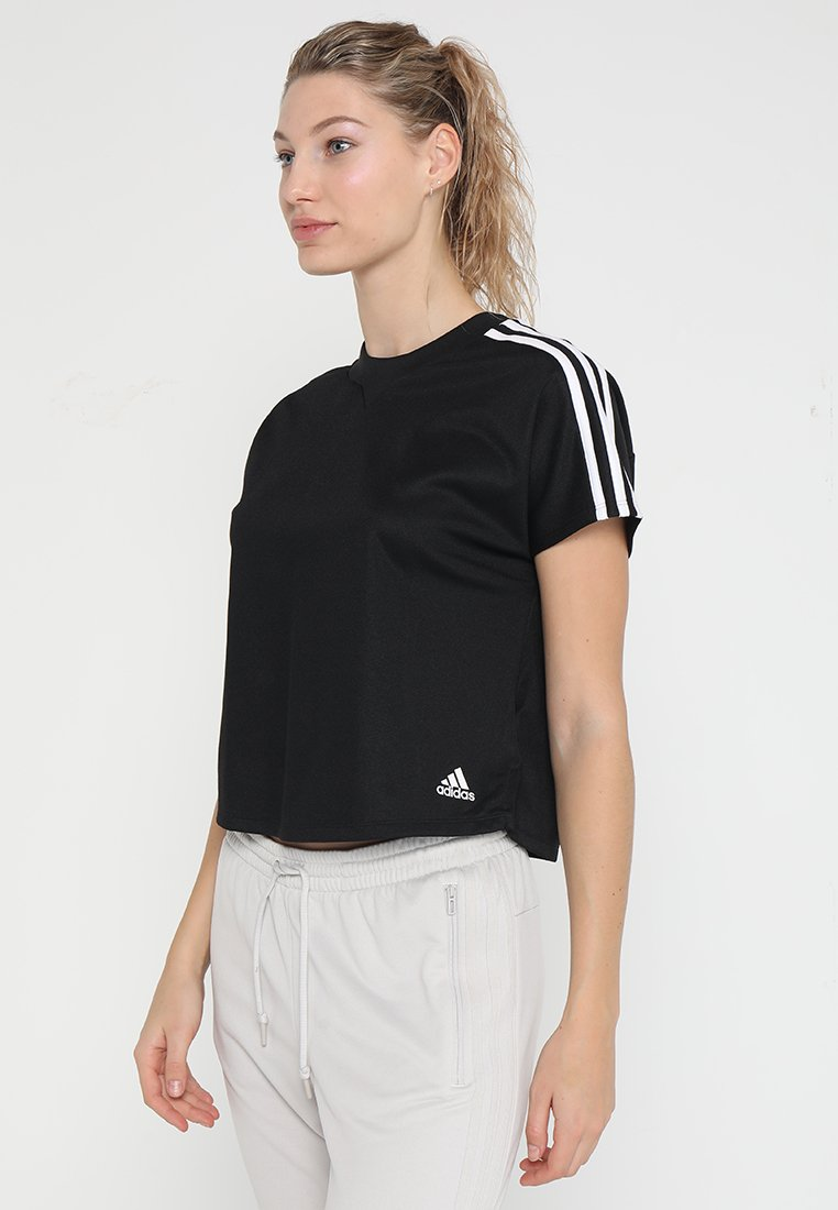 adidas Performance - ATTEETUDE TEE - T-shirts - black/white