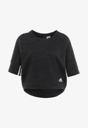 Sweatshirt - black melange/white