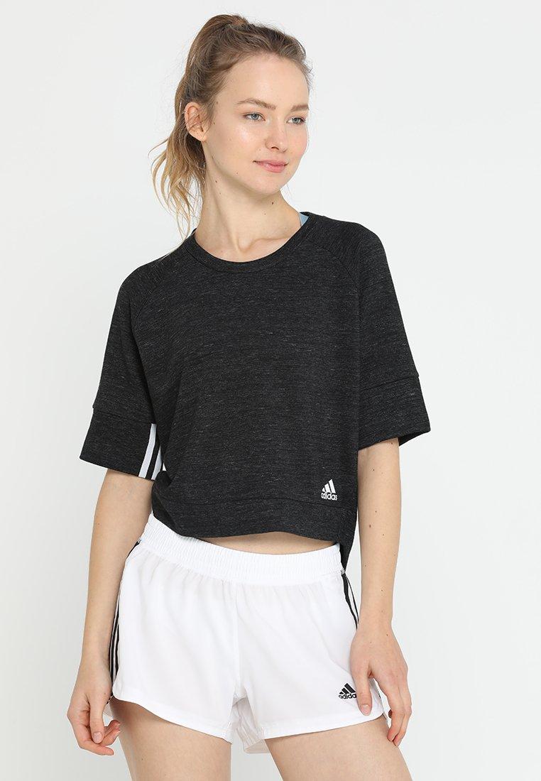 adidas Performance - Sweatshirt - black melange/white