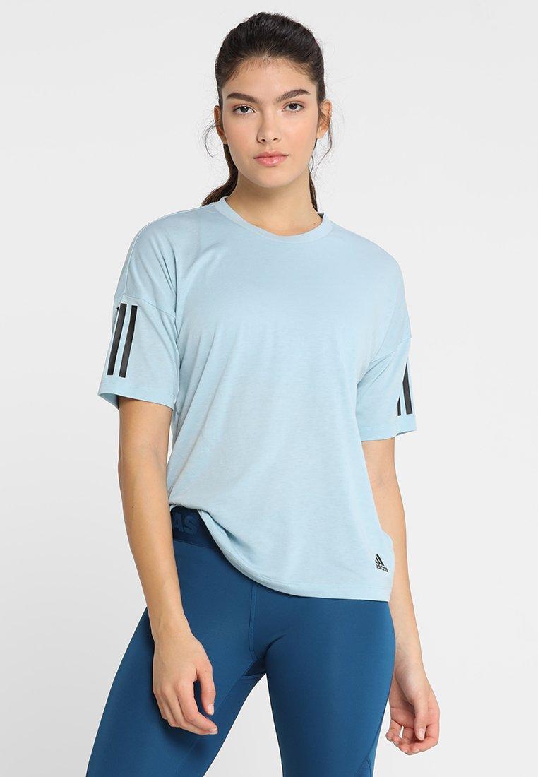 adidas Performance - T-Shirt print - ashgrey/white