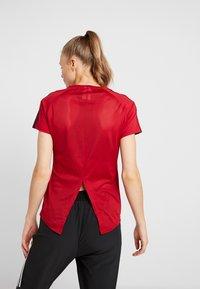 adidas Performance - 3S TEE - T-shirts med print - active maroon/black - 2