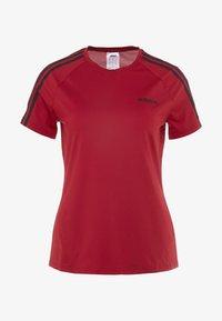adidas Performance - 3S TEE - T-shirts med print - active maroon/black - 5
