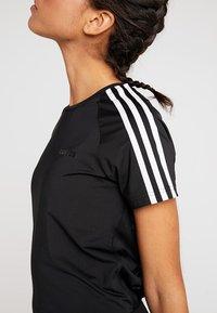 adidas Performance - 3S TEE - T-shirts med print - black - 6
