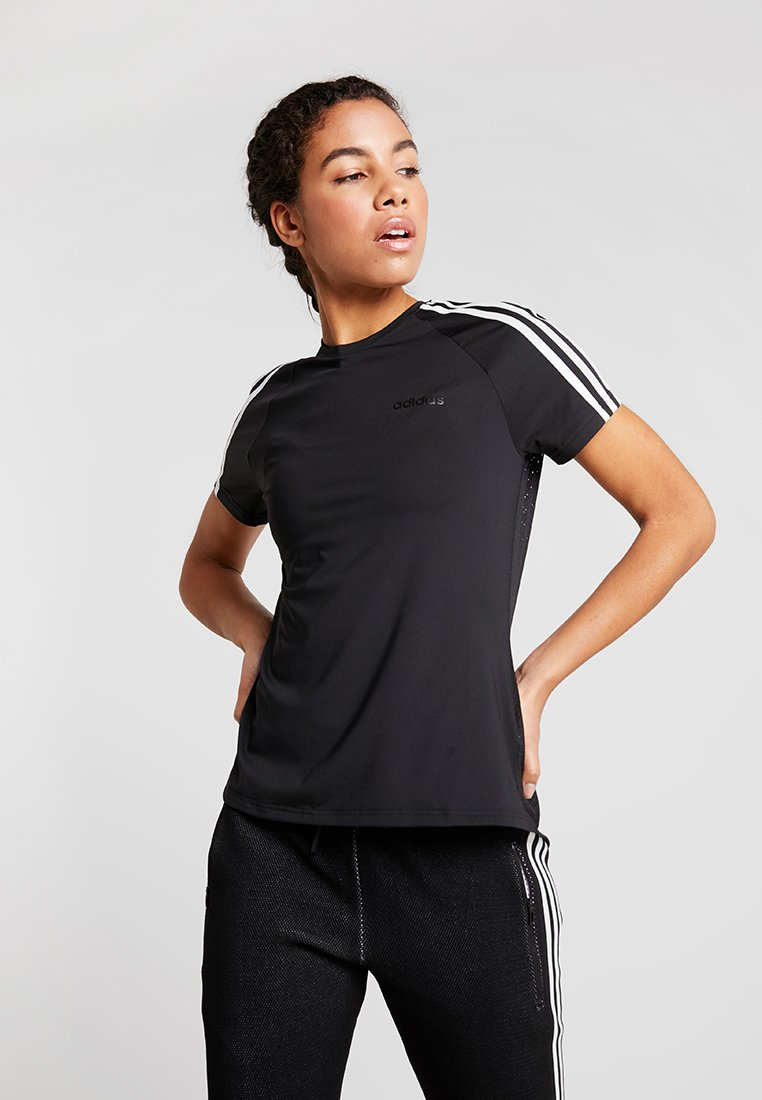 adidas Performance - 3S TEE - T-Shirt print - black