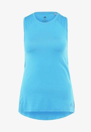 STRAP TANK - Sports shirt - shock cyan
