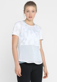 adidas Performance - OWN THE RUN TEE - T-shirt con stampa - white/greone - 0